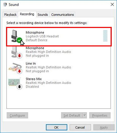 how to set up microphone headset windows 10