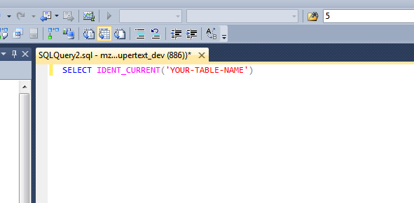 SQL Server: Setting the Identity Seed value after migration